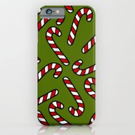 Candy Cane Pattern iPhone 6 Slim Case