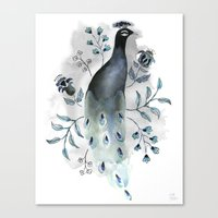 Peacock Print Canvas Print