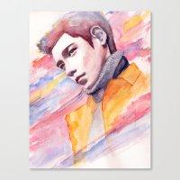Canvas Print featuring if I were a good man by Jordana Clarke