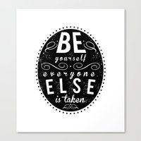 Inspire Yo Self  Canvas Print