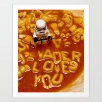 Vader Loves You Art Print