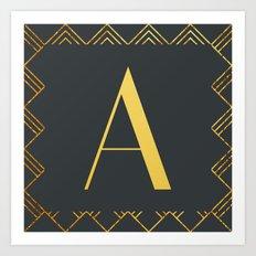 Art Deco Monogram - A Art Print