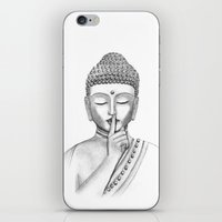 Shh... Do not disturb - Buddha iPhone & iPod Skin