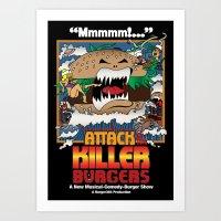 Attack Of The Killer Bur… Art Print