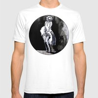 Skeleton Itch Mens Fitted Tee White SMALL