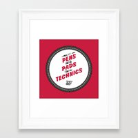 HIPHOP ANTHEM : From Pens To Pads To Technics Framed Art Print