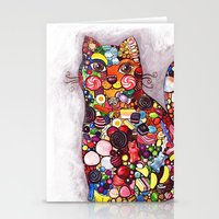 Candy Cat Stationery Cards