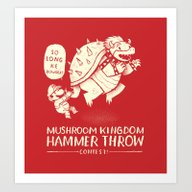 Hammer Throw Contest Art Print