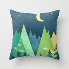 The Long Road at Night Throw Pillow