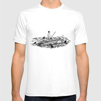Troubled Waters Mens Fitted Tee White SMALL