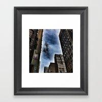 Glittering Windows Framed Art Print