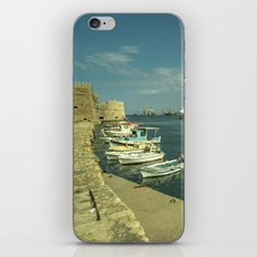 Heraklion old harbour iPhone & iPod Skin