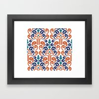 Adobe Damask Framed Art Print