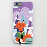 Fox And Books - Purple iPhone 6 Slim Case