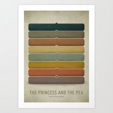 The Princess and the Pea Art Print