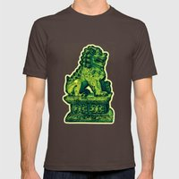 Jade Lion Mens Fitted Tee Brown SMALL
