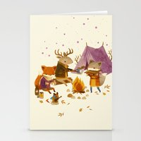 fall Stationery Cards featuring Critters: Fall Camping by Teagan White