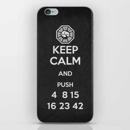 Keep Calm - Lost Poster iPhone & iPod Skin