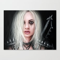 Sword In the Dark: A Gothic Warrior  Canvas Print