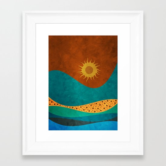 color under the sun (II) Framed Art Print