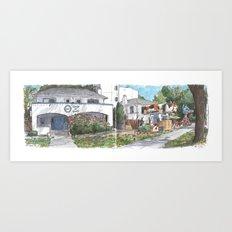First Street, Davis Art Print