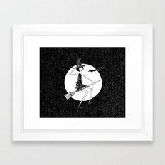 happy halloween Framed Art Print