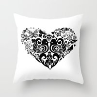 Baybeh Heart Haiku Throw Pillow