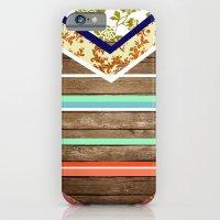iPhone & iPod Case featuring chevron  wood design by Tiffany Jones