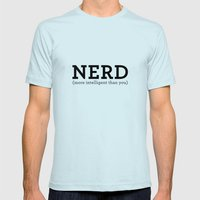 Nerd Mens Fitted Tee Light Blue SMALL