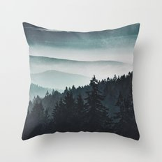 Mountain Light Throw Pillow
