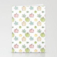 Pumpkin Pattern on White Background Stationery Cards
