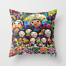 Traditional Mexican Doll… Throw Pillow