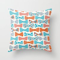 Geometric Bows Throw Pillow