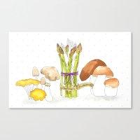 Asparagus And Mushrooms Canvas Print