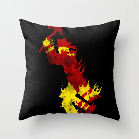 literal fireman Throw Pillow