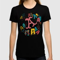 A's Womens Fitted Tee Black SMALL
