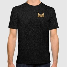 Pocket Tabby Cat Mens Fitted Tee Tri-Black SMALL