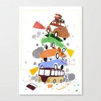 VW Tower Print Canvas Print