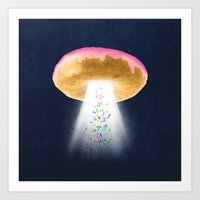 Unidentified Frying Object Art Print