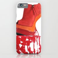 iPhone & iPod Case featuring Dripping Red Shoe by Jackie Lalumandier