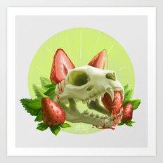 Strawpurry Art Print