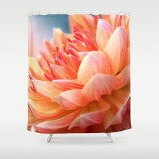 Dahlia Glow Macro Shower Curtain