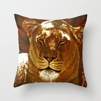 Red Lion Throw Pillow