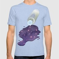 Universe In The Bottle Mens Fitted Tee Tri-Blue LARGE