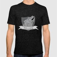 Game Of Thrones - House … Mens Fitted Tee Tri-Black SMALL