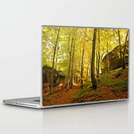 Rocky Forest In The Fall Laptop & iPad Skin