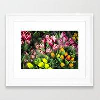 Tulips At Market Framed Art Print