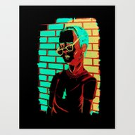 Art Print featuring Wrath by Genevieve Simms