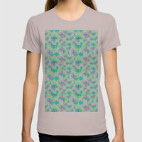 Geo Texture Womens Fitted Tee Cinder SMALL