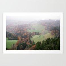 FOGGY SWITZERLAND Art Print